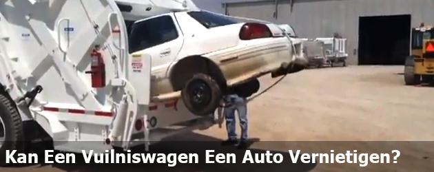 Kan Een Vuilniswagen Een Auto Vernietigen?