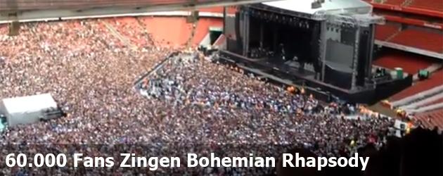 60.000 Fans Zingen Bohemian Rhapsody