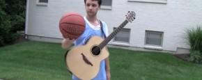 Al basketballend Een Liedje Spelen