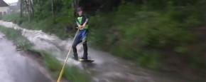 Wakeboarden Tijdens De Duitse Overstroming