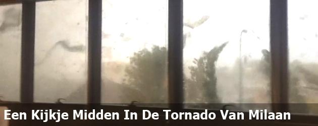 Een Kijkje Midden In De Tornado Van Milaan