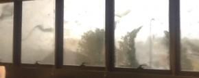 Een Kijkje Middenin De Tornado Van Milaan