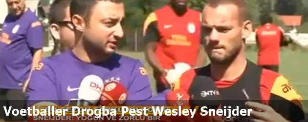 Voetballer Drogba Pest Wesley Sneijder