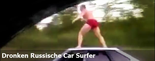 Dronken Russische Car Surfer