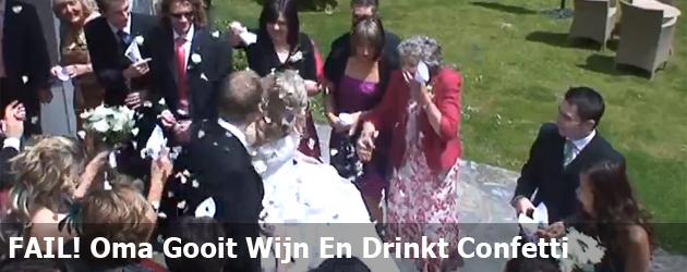 FAIL! Oma Gooit Wijn En Drinkt Confetti