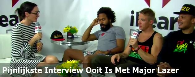 Pijnlijkste Interview Ooit Is Met Major Lazer