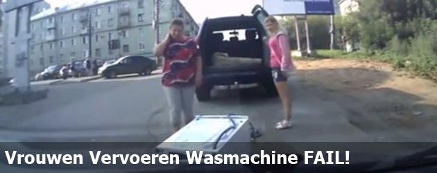 Vrouwen Vervoeren Wasmachine FAIL!