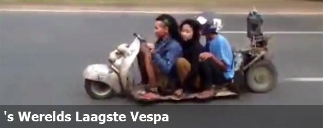 's Werelds Laagste Vespa