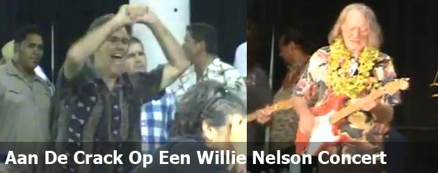 Aan De Crack Op Een Willie Nelson Concert
