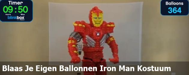 Blaas Je Eigen Ballonnen Iron Man Kostuum