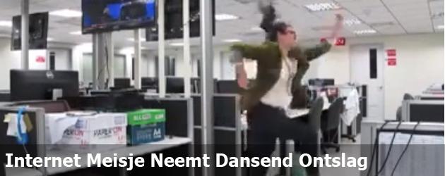 Internet Meisje Neemt Dansend Ontslag