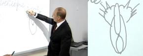 Poetin Tekent Vieze Plaatjes