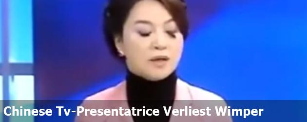 Chinese Tv-Presentatrice Verliest Wimper