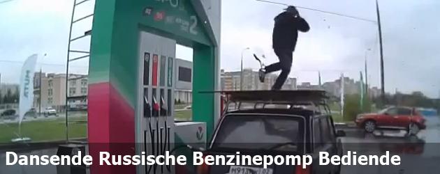 Dansende Russische Benzinepomp Bediende