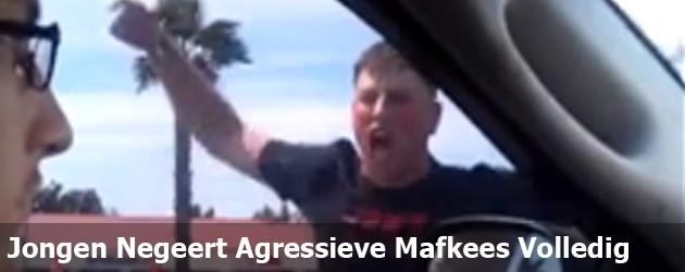 Jongen Negeert Agressieve Mafkees Volledig