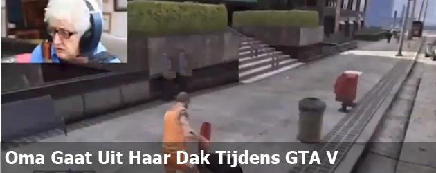 Oma Gaat Uit Haar Dak Tijdens GTA V
