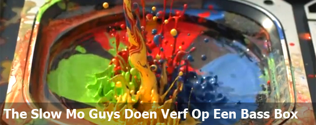The Slow Mo Guys Doen Verf Op Een Bass Box