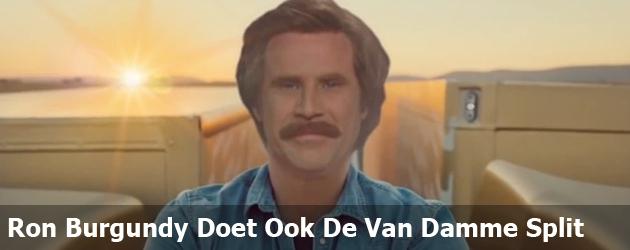 Ron Burgundy Doet Ook De Van Damme Split
