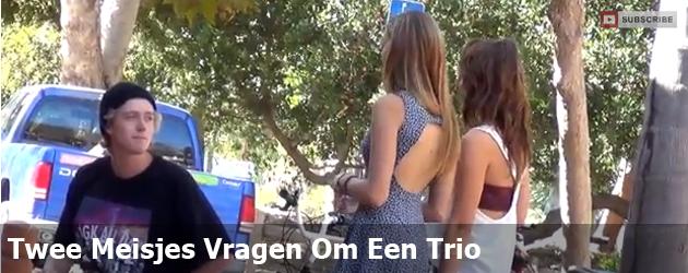 Twee Meisjes Vragen Om Een Trio