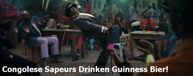 Congolese Sapeurs Drinken Guinness Bier!