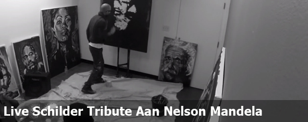 Live Schilder Tribute Aan Nelson Mandela