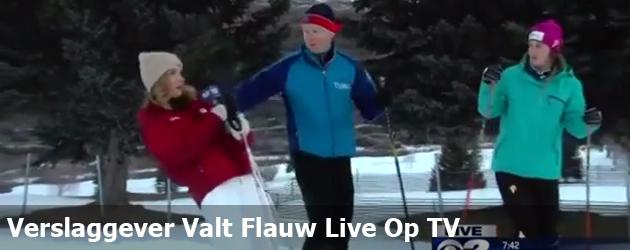 Verslaggever Valt Flauw Live Op TV