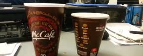 McDonald's Medium En Small Koffie Test