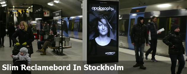 Slim Reclame Bord In Stockholm