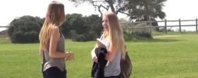Meisjes Pikken Meisjes Op Prank
