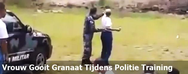 Vrouw Gooit Granaat Tijdens Politie Training