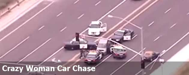 Crazy Woman Car Chase