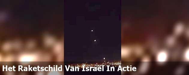 Het Raketschild Van Israël In Actie