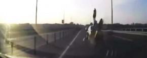Acrobatisch Motorongeluk