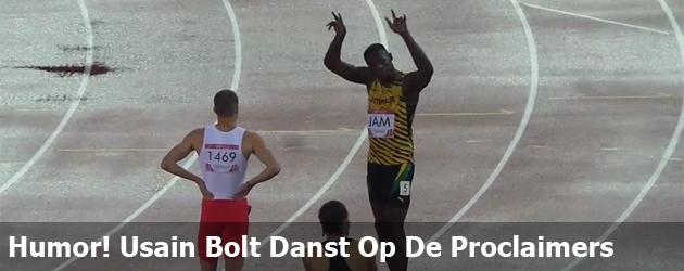 Humor! Usain Bolt Danst Op De Proclaimers