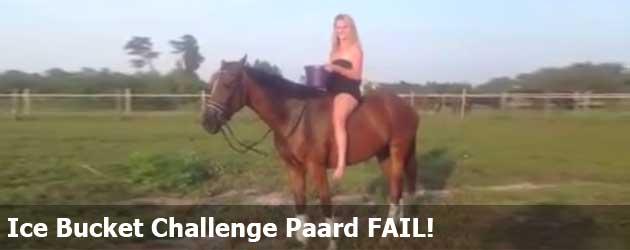 Ice Bucket Challenge Paard FAIL!