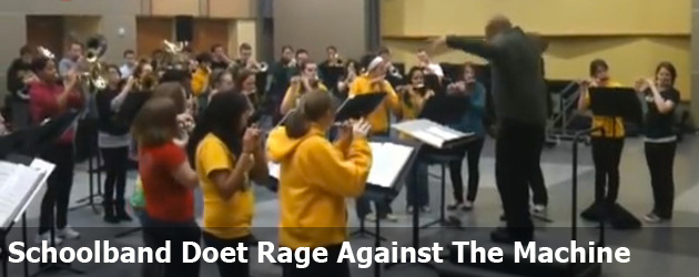 Schoolband Doet Rage Against The Machine