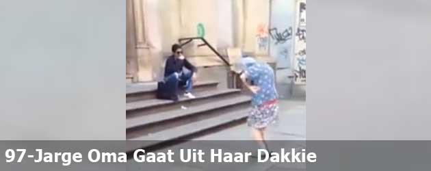 97-Jarge Oma Gaat Uit Haar Dakkie