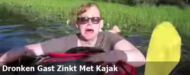 Dronken Gast Zinkt Met Kajak