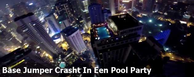Base Jumper Crasht In Een Pool Party