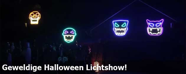 Geweldige Halloween Lichtshow!