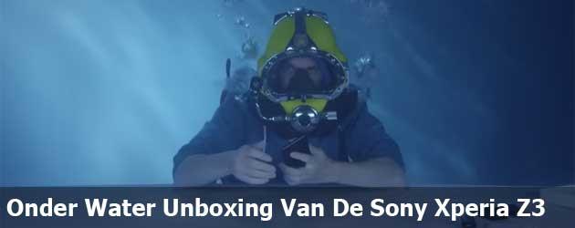 Onder Water Unboxing Van De Sony Xperia Z3