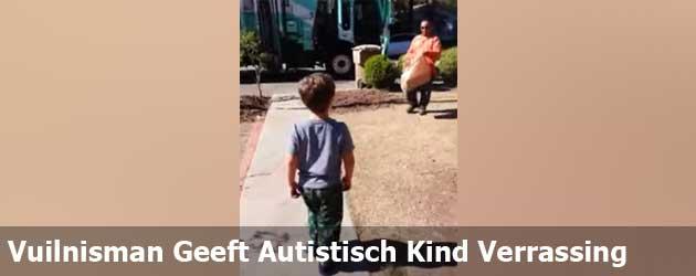 Vuilnisman Geeft Autistisch Kind Verrassing