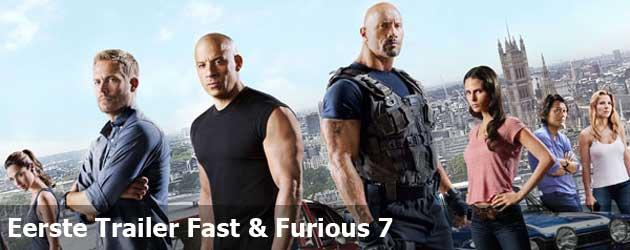 Eerste Trailer Fast & Furious 7