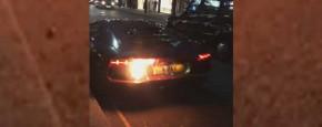Lamborghini In De Fik Door Eigen Uitlaat