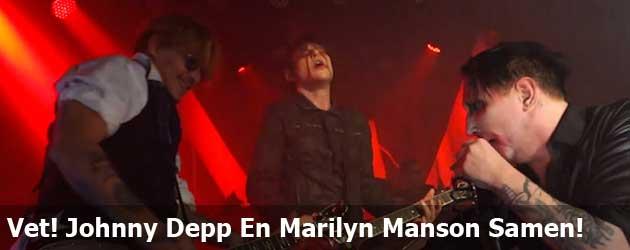 Vetttttt! Johnny Depp En Marilyn Manson Samen!