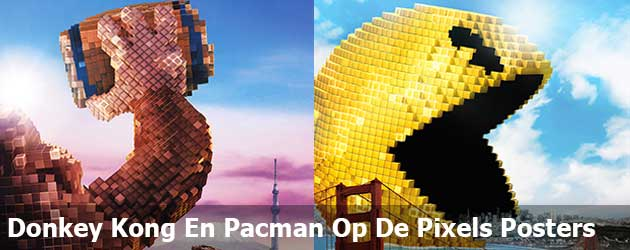 Donkey Kong En Pacman Op De Pixels Posters