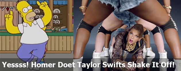 Yesss! Homer Doet Taylor Swifts Shake It Off!
