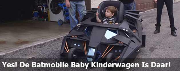 Yes! De Batmobile Baby Kinderwagen Is Daar!