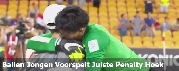 Ballen Jongen Voorspelt Juiste Penalty Hoek