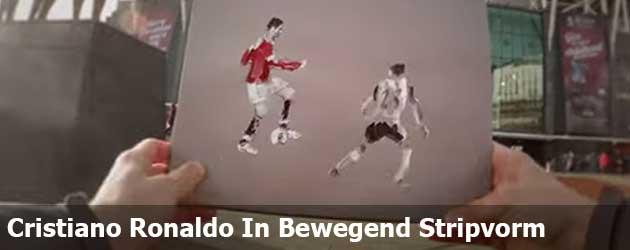 Cristiano Ronaldo In Bewegend Stripvorm
